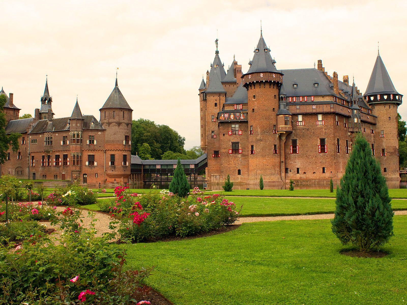 Обои нидерланды, замок, утрехт. Города foto 11